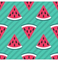 Cute seamless watermelon pattern vector