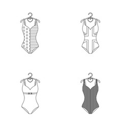 Different kinds of swimsuits swimsuits set vector