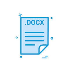 Docx application download file files format icon vector