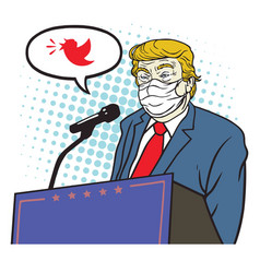 Donald trump speech coronavirus covid19 vector