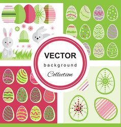 easter pattern collection vector image