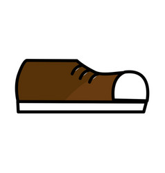 fashin man shoes style vector image