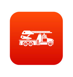 fire engine icon digital red vector image
