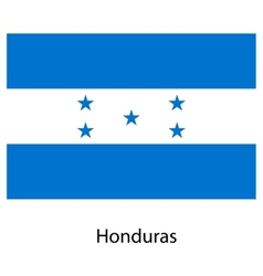 Flag of the country honduras vector image