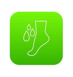 foot care icon green vector image
