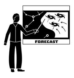 Forecast hurricane icon simple style vector