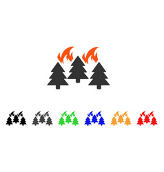 forest fire disaster icon vector image