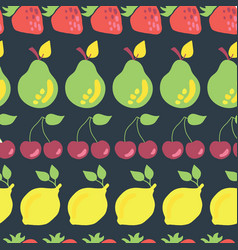 fruits in rows seamless pattern background vector image