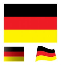 German flag set vector image