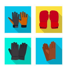 glove and winter logo vector image