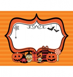 Halloween party frame vector image