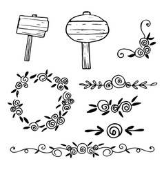 hand drawn dividers lines borders and vector image