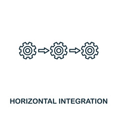 Horizontal integration icon thin line style vector