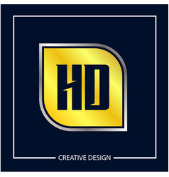 Initial letter hd logo template design vector