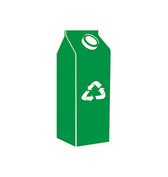 Isolated recyclable icon vector