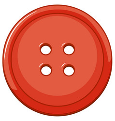 Isolated red button on white background vector