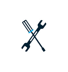 Isolated wrench and screwdriver design vector