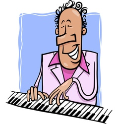 jazz pianist cartoon vector image