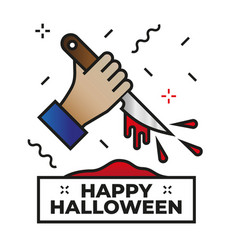 Killer - happy halloween icon vector