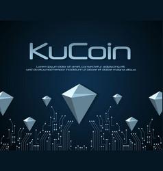 Ku coin blockchain background design vector