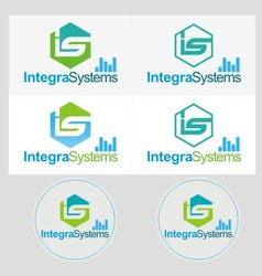 logo industrial set vector image