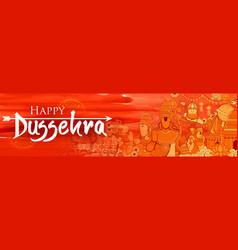 lord ram sita laxmana hanuman and ravana in vector image