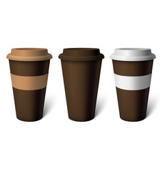 mockup brown coffee cup vector image