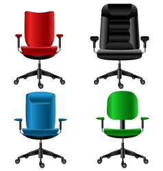 Office chair set vector