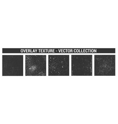 old urban texture overlay set vector image