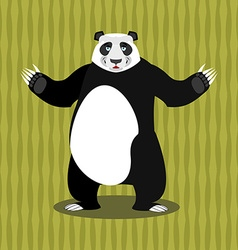 Panda Chinese Bear Good animal Jolly animal and vector image