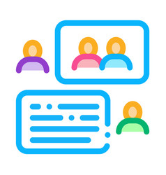 People discussing icon outline vector