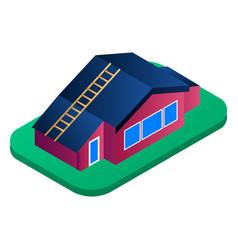 residence village house icon isometric style vector image