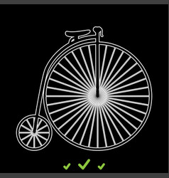 retro bicycle it is white icon vector image