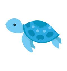 Sea turtle cartoon vector
