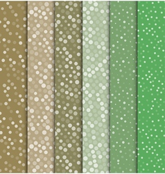 Seamless polka dot patterns background vector image