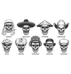 Set of skull vector