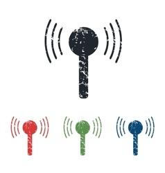 Signal grunge icon set vector image
