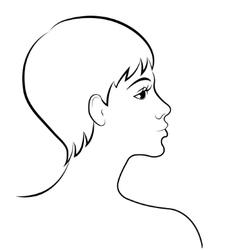 sketch a woman vector image