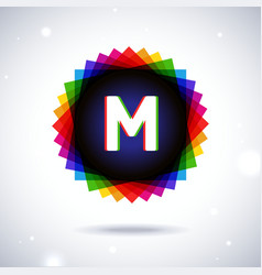 Spectrum logo icon Letter M vector image