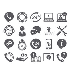 Support service icons vector