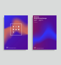 trendy abstract design templates vector image