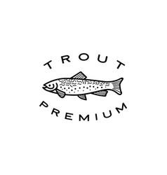 trout fish logo icon vector image