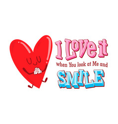 valentine cute doodle vector image