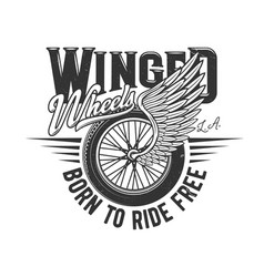 wheel on wing motorcycle racers or motor races vector image
