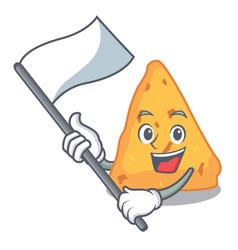 With flag nachos mascot cartoon style vector