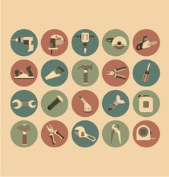 Working Tools Flat Icon Set vector