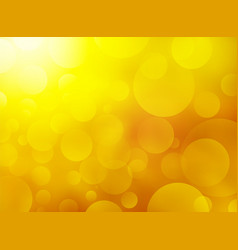 yellow background with bokeh vector image