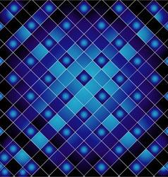 Blue metal grid background vector image