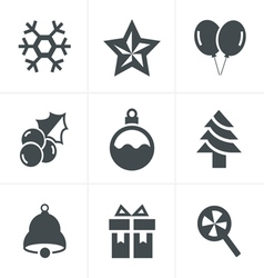 Christmas Icons Set Design vector image vector image