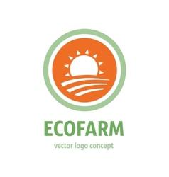 eco farm icon vector image vector image